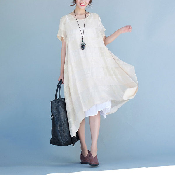 Women summer short sleeve dress - Buykud