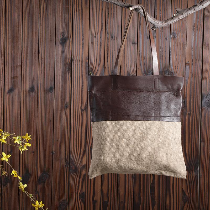 Casual Spliced Tote Women Shoulder Bag