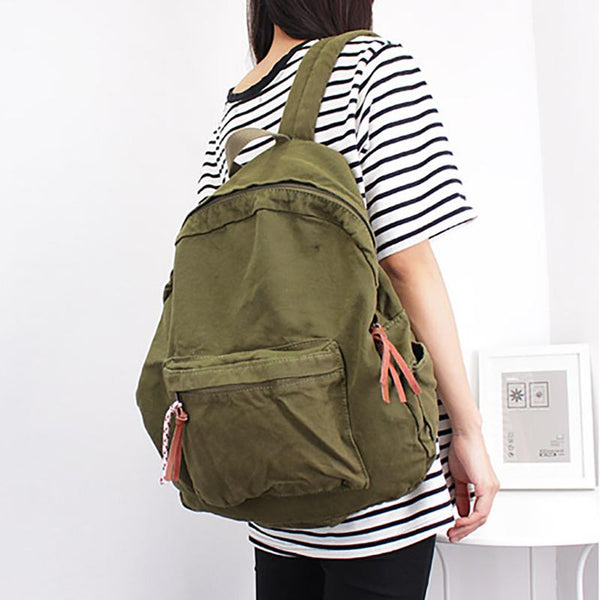Casual Vintage Canvas Laptop Travel Backpack