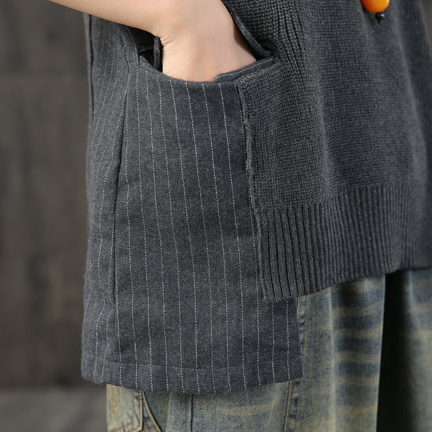 Buykud Simple Knit Pattern Classic Retro Sweater