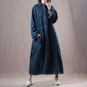 Denim Loose Long Belt Women Coat