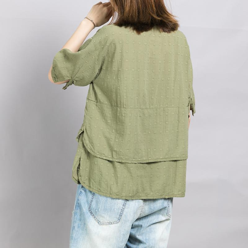 Comfortable Solid Color Double Layer Shirt