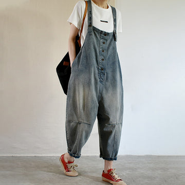 Women Summer Denim Loose Overalls