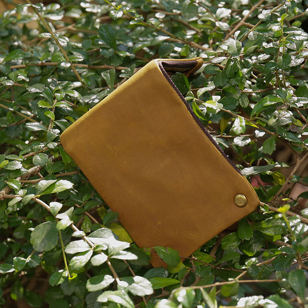 Casual Genuine Leather Versatile Wallet - Buykud