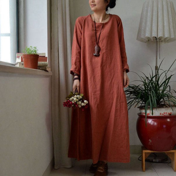 Maxi Dress Linen Dress Long Dress Loose Dress