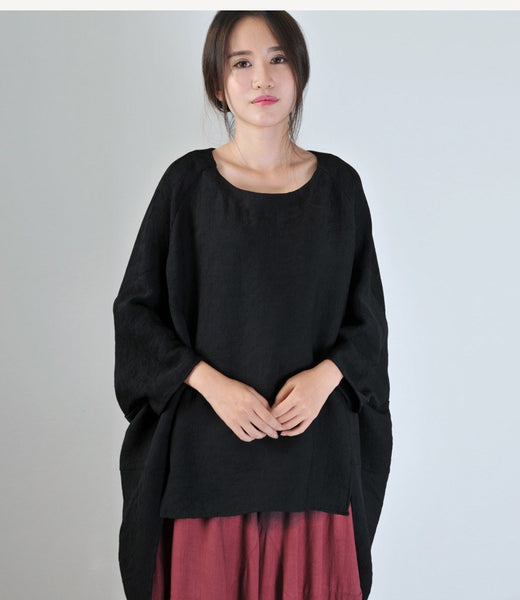 Women Autumn Cotton Linen Blouse