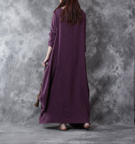 Women Casual Loose Linen Dress