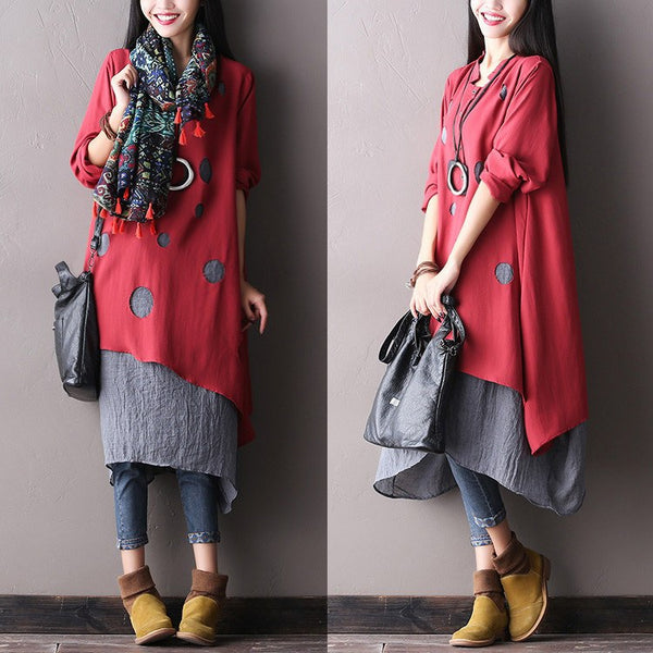 Women Cotton Autumn Dress