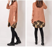 Women cotton knitted casual loose large size sweater - Buykud