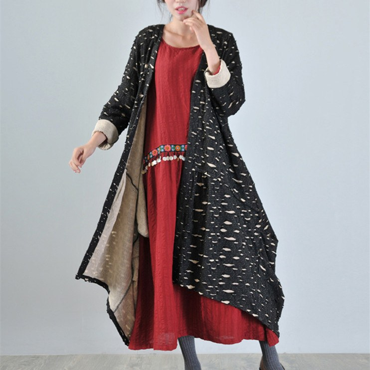 Women Cotton Long Coat Cardigan