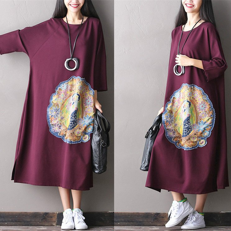 Women Cotton Loose Long Maxi Dress