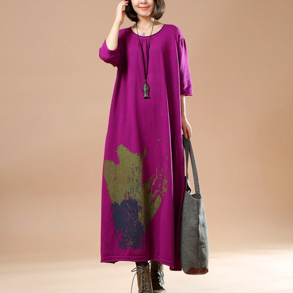 Women Cotton Sweater Dress