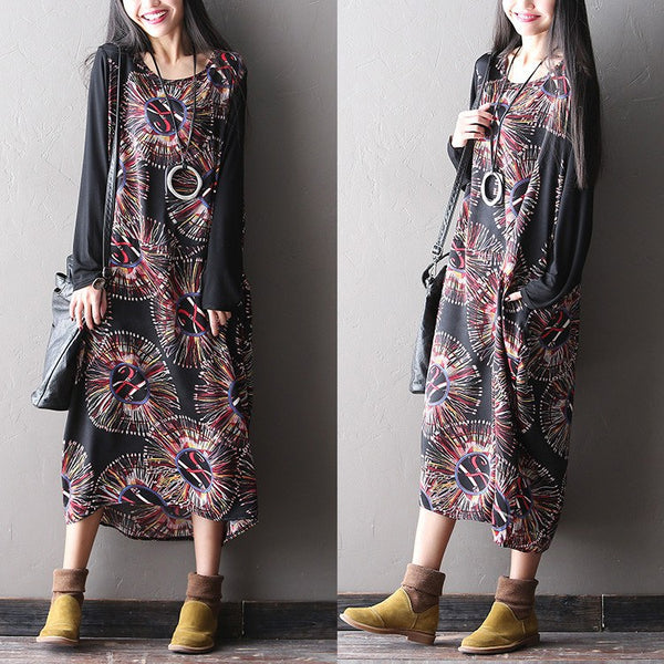 Women Plus Size Print Dress