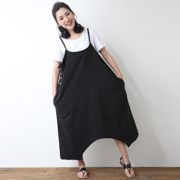 Women plus size strap pants - Buykud