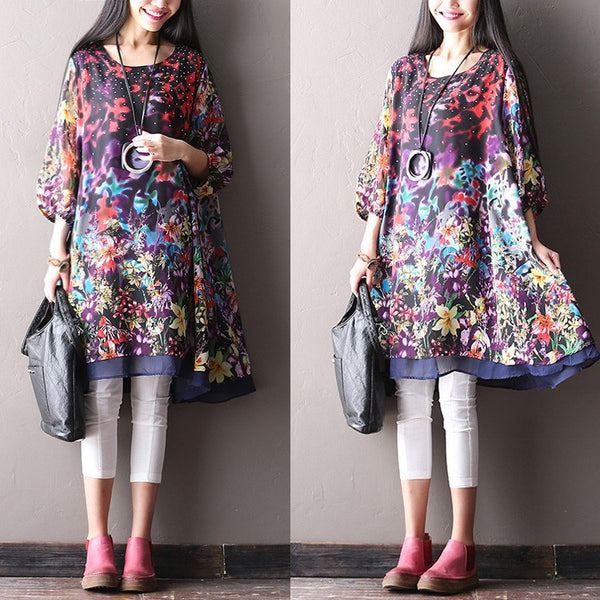 Women Print Chiffon Top
