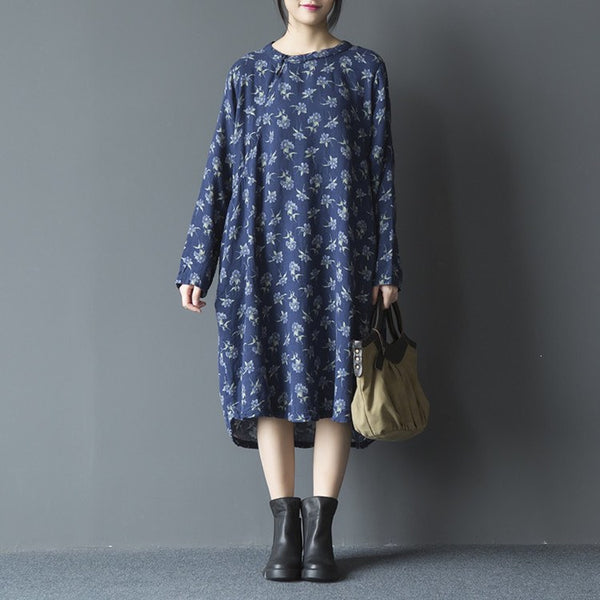 Women Print Cotton Dress