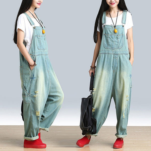 Women's Casual Loose Jumpsuit Romper Denim Overall