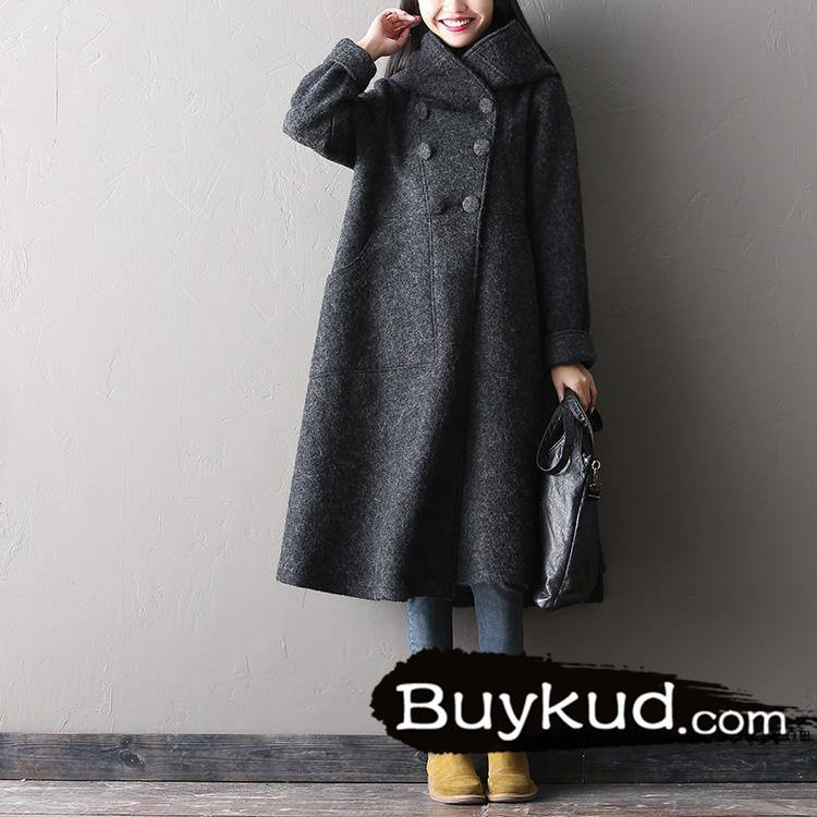 Winter Long Woolen Coat for Women - Buykud