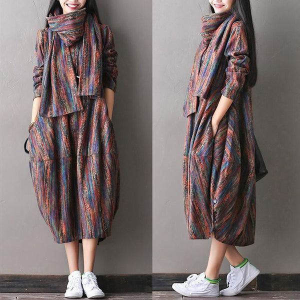 Women Woolen Autumn Dress