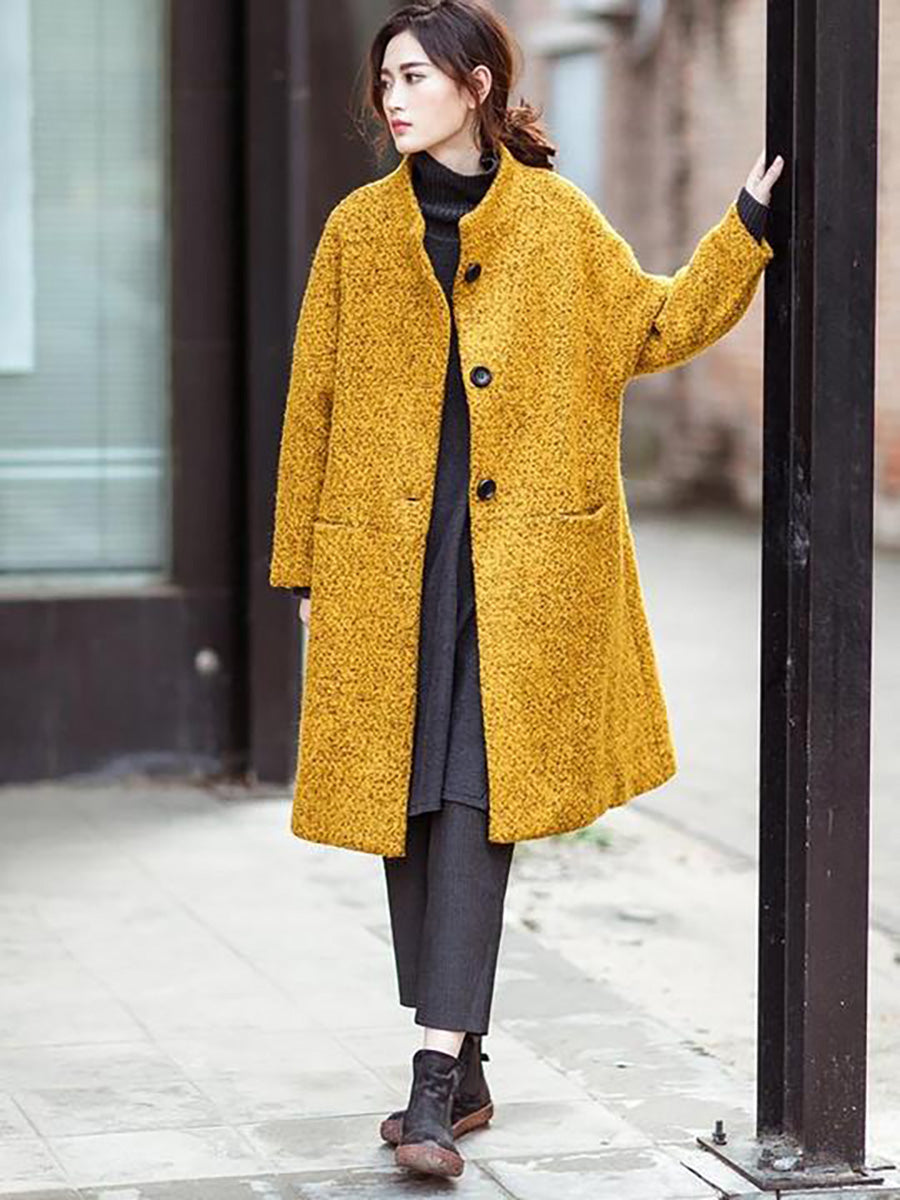 Winter Women Casual Loose Woolen Coat
