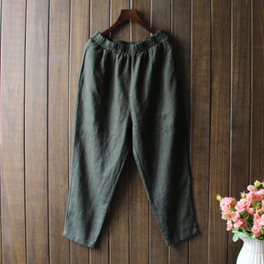 Casual Cotton Linen Autumn Pants For Women