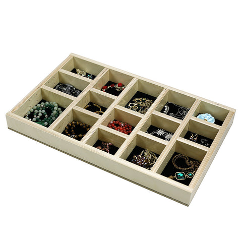 Jewelry Tray Drawer Organizer Insert