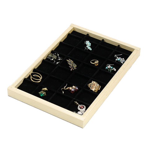 Sliding ring and earring tray