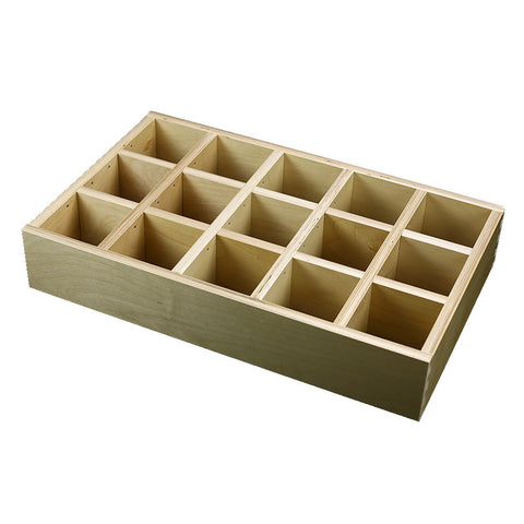 "5 Section Adjustable Divider (up to 15 cubicles) organizer insert.  Interior Drawer Dimension Range: Width 12"" to 24', Depth 8"" to 16"", Height 2"" to 6""."