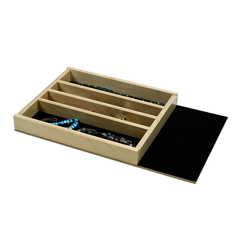 "Jewelry Tray Organizer Insert (G-CL-18-204)  Extended velvet bottom, 16 3/8"" to 23 3/8"" wide and 11"" to 21"" depth"