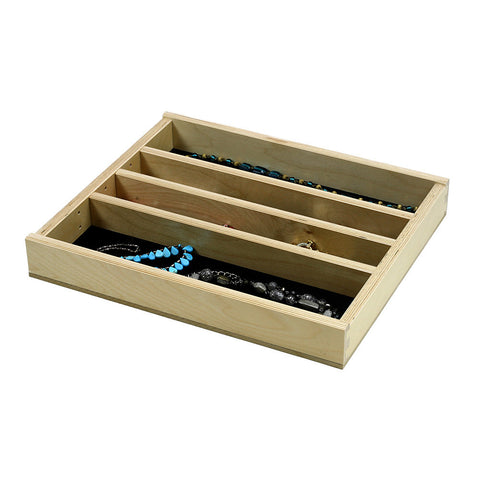 "Jewelry Tray Organizer Insert (G-CL-18-203) 16 3/8""  wide and 11"" to 21"" depth"