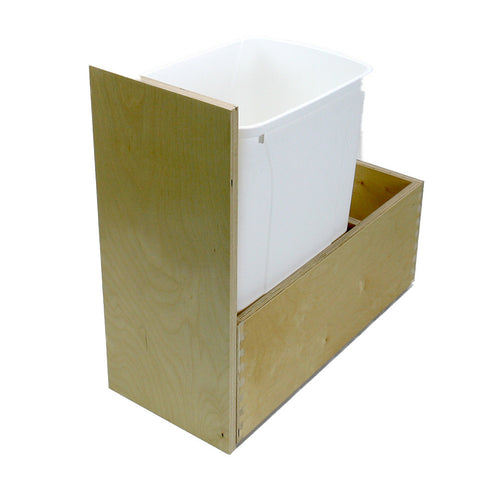 "Solo Roll-out Kit -  Trash Roll-out -1 Bin, Cabinet floor mounted. 8"" high single drawer. PRTRFM-W-U-1"