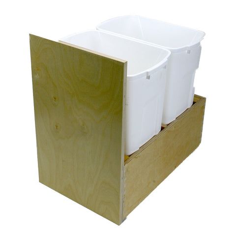 "Solo Roll-out Kit -  Trash Roll-out -2 Bin, Cabinet floor mounted. 8"" high single drawer. PRTRFM-W-U-2"