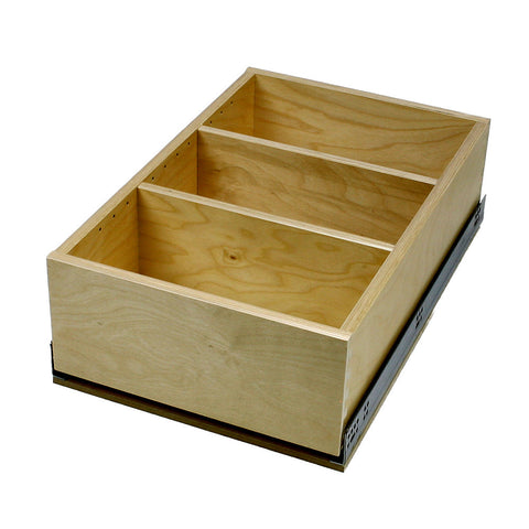 "Solo Roll-out Kit - Cabinet floor mounted. 8"" high single drawer. For 10"" to 36"" wide openings."