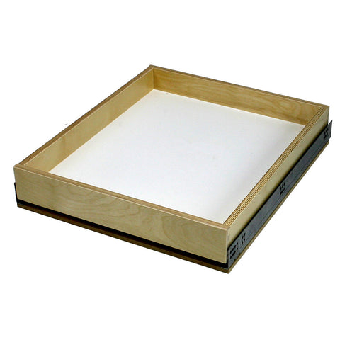 "Solo Roll-out Kit - Cabinet floor mounted. 3"" high single drawer. For 10"" to 36"" wide openings."