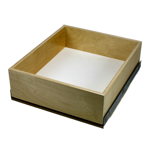 "Solo Roll-out Kit - Cabinet floor mounted. 6"" high single drawer. For 10"" to 36"" wide openings."