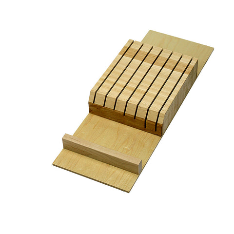 Solid maple cutlery block insert CT-FD-01
