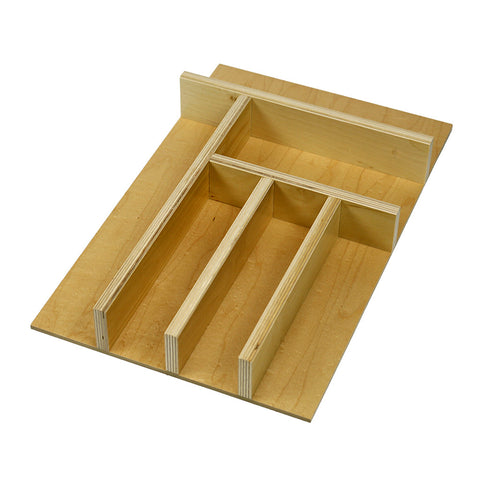 Custom economy narrow silverware (flatware) drawer organizer