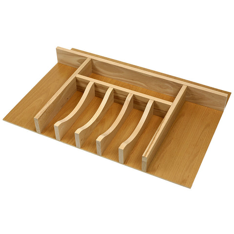 Custom premium wide silverware (flatware) drawer organizer