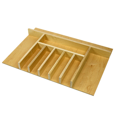Custom economy wide silverware (flatware) drawer organizer