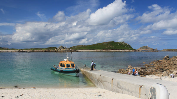 Lightning ferry at Lowertown Quay, St Martin's, Isles of Scilly