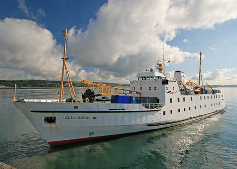 Scillonian ferry in Penzance Harbour