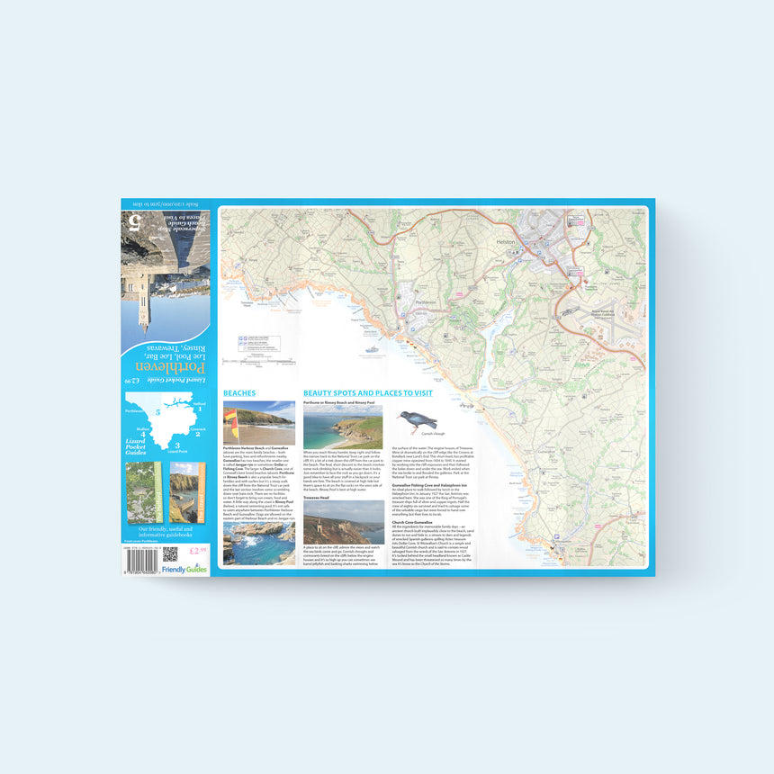 Friendly Guides Lizard Pocket Guide 5: Porthleven map of Loe Bar, Halzephron, Gunwalloe, Rinsey and Trewavas Head