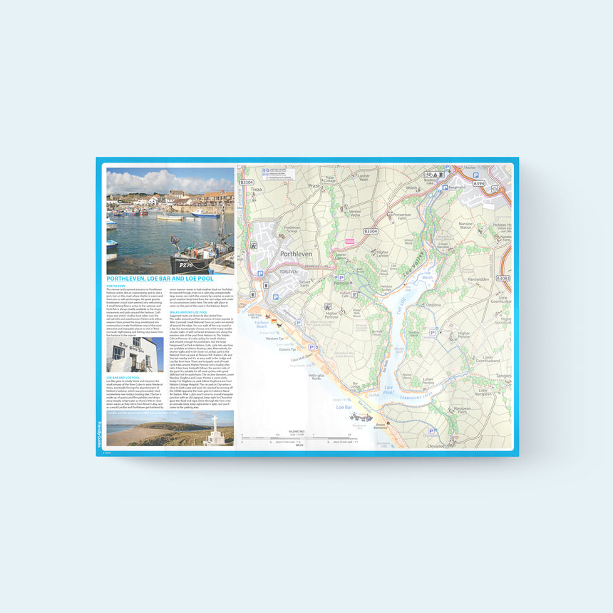 Friendly Guides Lizard Pocket Guide 5: Porthleven, Loe Bar, Rinsey, Trewavas with cover photo of Porthleven harbour