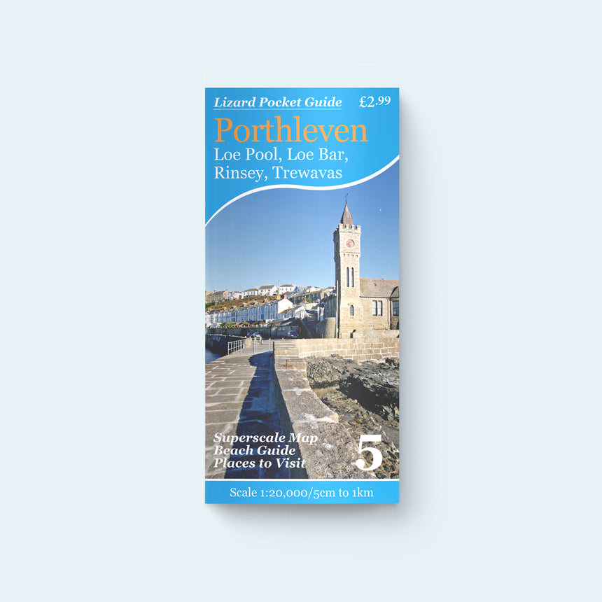 A photo of the cover of the Friendly Guides Isles of Scilly Guidebook showing the bar between Gugh and St Agnes