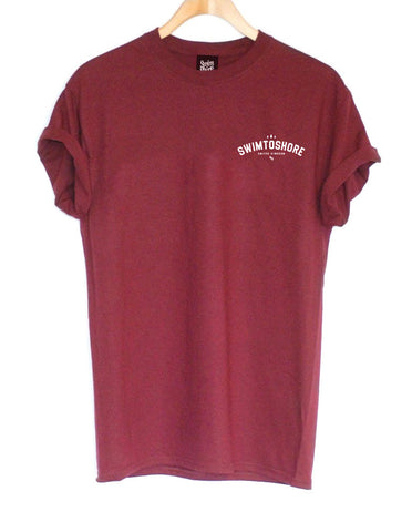 Pocket Tee - Burgundy