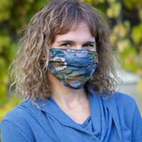 Hemp Face Mask - Flower patterns - Organic Cotton