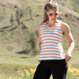 Hemp Flow Tank ~ Orange Stripes