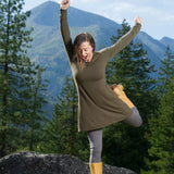 Organic Soy Aster Tunic Dress  (Long Sleeve)