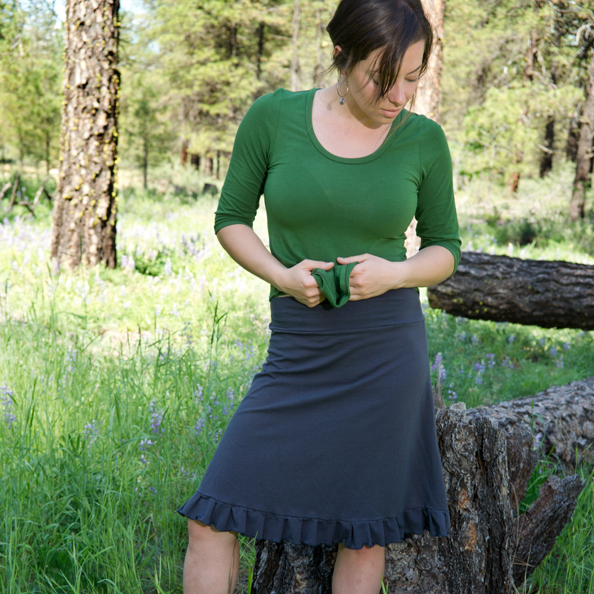Hemp Ruffle Skirt
