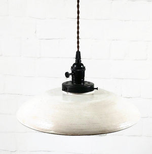 Shallow White Hanging Pendant Light